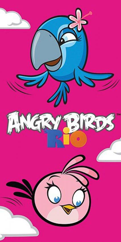 Osuška Angry Birds Rio Stella a Perla 70/140 - plážové osušky