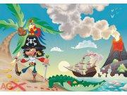 Fototapeta Piráti FTNXXL-0406, rozměry 360 x 270 cm Fototapety pro děti - Fototapety dětské vliesové