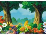 Fototapeta 3D Les a louka FTNXXL-0402, rozměry 360 x 270 cm Fototapety pro děti - Fototapety dětské vliesové