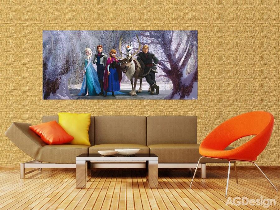 Fototapeta vliesová Ledové Království FTDNH-5347, 202 x 90 cm - Fototapety dětské vliesové