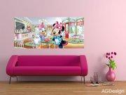 Fototapeta vliesová Minnie a Daisy FTDNH-5344, 202 x 90 cm Fototapety pro děti - Fototapety dětské vliesové