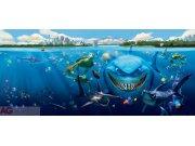 Fototapeta vliesová Nemo a Žralok FTDNH-5313, 202 x 90 cm Fototapety pro děti - Fototapety dětské vliesové