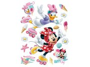 Maxi nálepka Minnie na bruslích AG Design DK-1724, rozměry 85 x 65 cm Dekorace Mickey Mouse