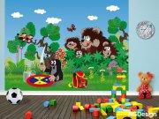 Fototapeta Krteček a medvědi FTNXXL-2423, rozměry 360 x 270 cm Fototapety pro děti - Fototapety dětské vliesové