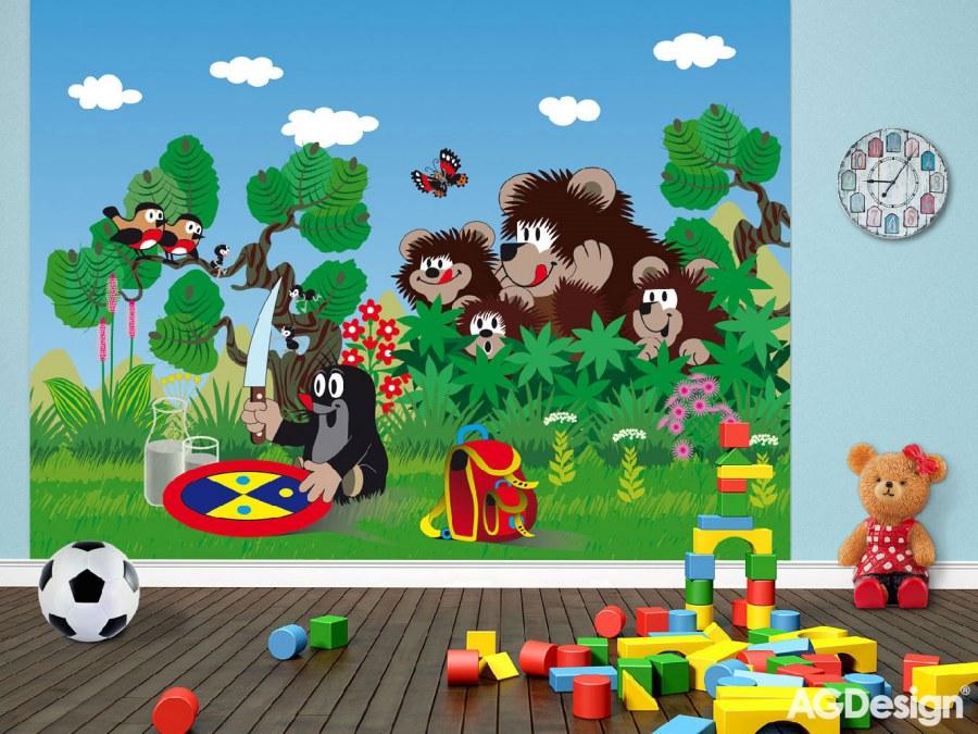 Fototapeta Krteček a medvědi FTNXXL-2423, rozměry 360 x 270 cm - Fototapety dětské vliesové