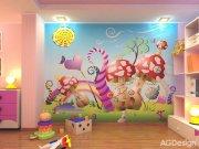 Fototapeta Mochomůrky FTNXXL-0410, rozměry 360 x 270 cm Fototapety pro děti - Fototapety dětské vliesové