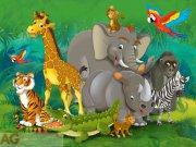 Fototapeta Zvířata v Africe FTNXXL-2420, rozměry 360 x 270 cm Fototapety pro děti - Fototapety dětské vliesové