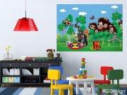 Fototapeta Krteček a medvědi FTM2659, rozměry 160 x 110 cm Fototapety pro děti - Fototapety dětské vliesové