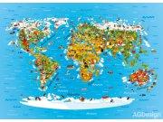 Fototapeta Mapa světa FTM2650, rozměry 160 x 110 cm Fototapety pro děti - Fototapety dětské vliesové
