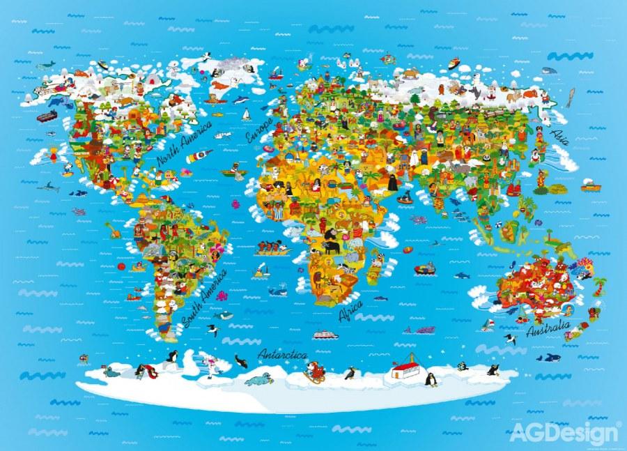 Fototapeta Mapa Sveta Ftm2650 Rozmery 160 X 110 Cm Dekoraceprodeti Cz