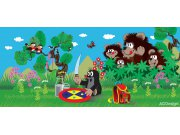 Fototapeta Krtek a medvědi FTNH-2734, rozměry 202 x 90 cm Fototapety pro děti - Fototapety dětské vliesové