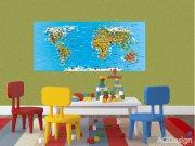 Fototapeta Mapa světa FTNH-2731, rozměry 202 x 90 cm Fototapety pro děti - Fototapety dětské vliesové