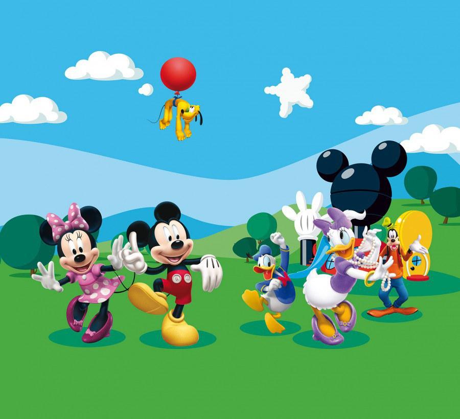 Fotozávěs Mickey Mouse FCCXXL-4008, 280 x 245 cm - Závěsy do dětského pokoje