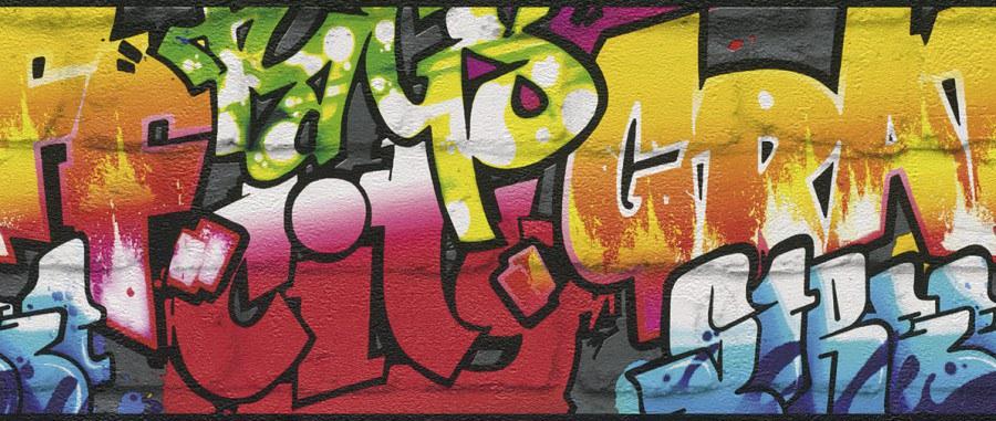 Bordury Kids & Teens grafitty 237900 - Tapety Kids and Teens