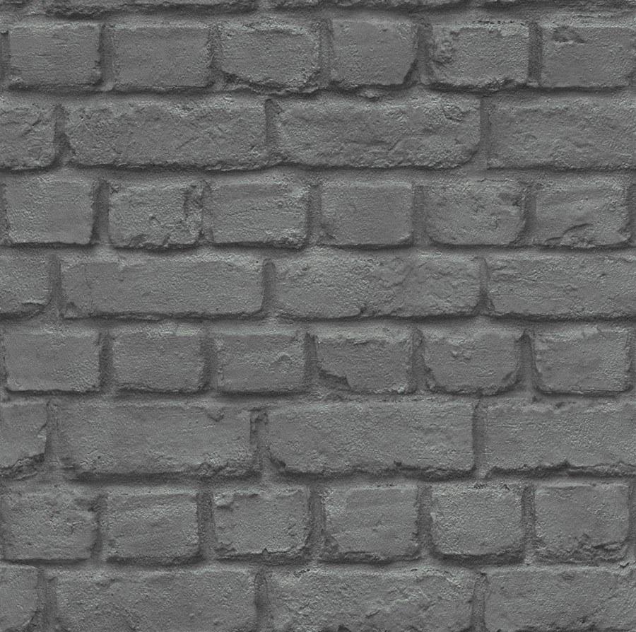 Tapety na zeď Kids & Teens černá cihla 226744 - Tapety Kids and Teens