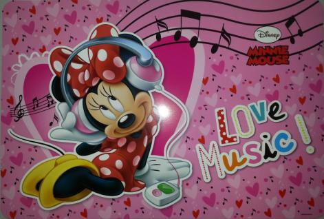 Prostírání Minnie Music LP2027, rozměry 42 x 30 cm - Dekorace Mickey Mouse