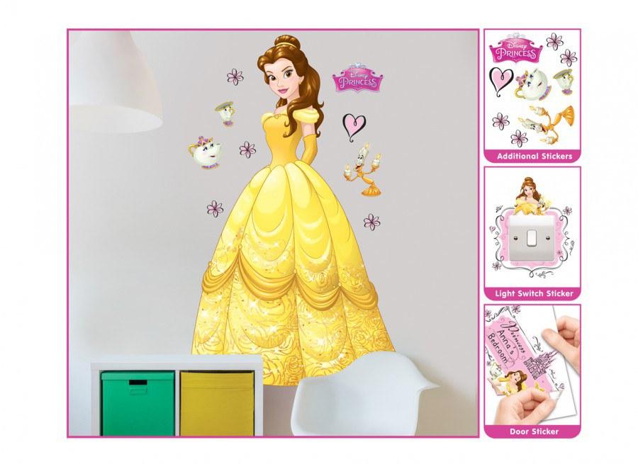 Samolepicí dekorace Walltastic Princezna Bella 44357 - Dekorace Princezny