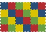 Podlahové pěnové puzzle koberec 24 malých dílků 8 mm, rozměry 121 x 181 cm Dětské koberce
