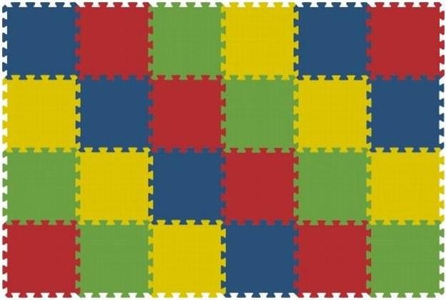 Podlahové pěnové puzzle koberec 24 malých dílků 8 mm, rozměry 121 x 181 cm - Dětské koberce