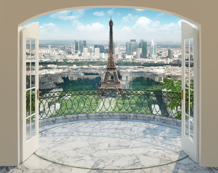Fototapeta 3D Walltastic Paříž 43589, 305 x 244 cm - Fototapety papírové