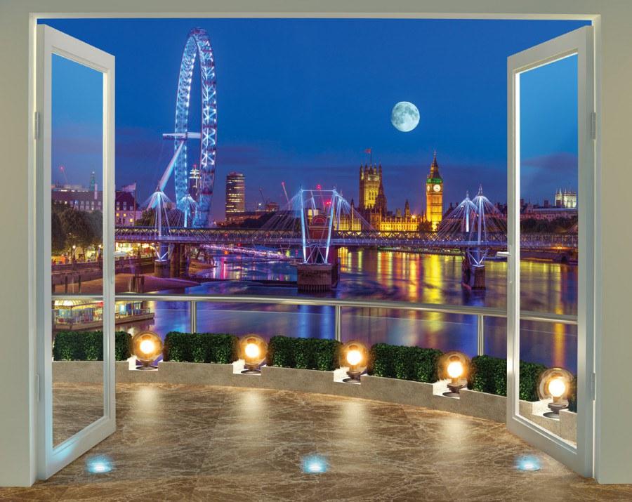 Fototapeta 3D Walltastic Londýn 43596, 305 x 244 cm - Fototapety papírové
