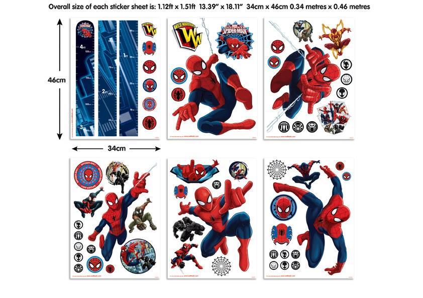 Samolepicí dekorace Walltastic Spiderman 43145 - Dekorace Spiderman