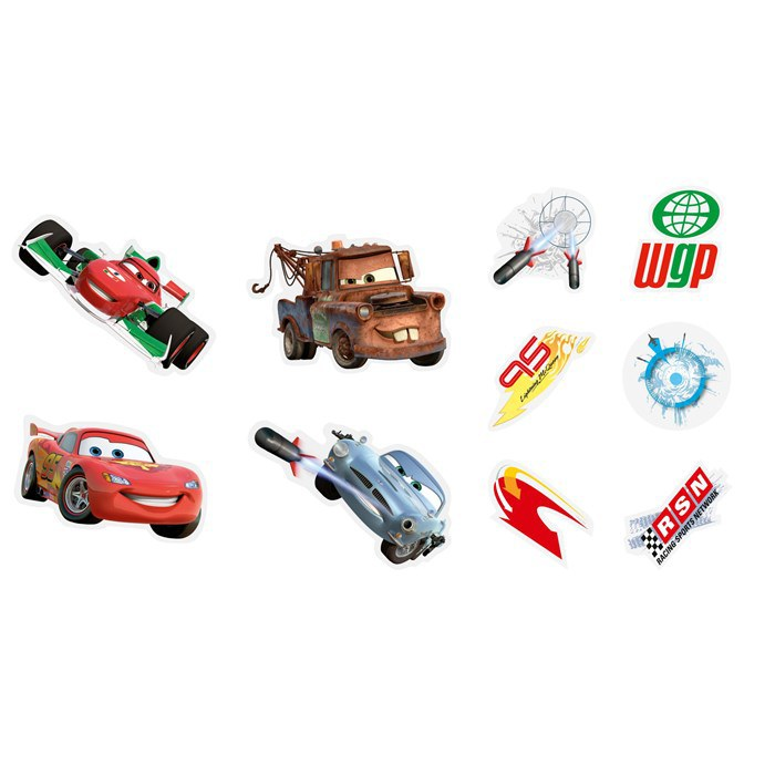Mini pěnové figurky Cars D24163, 10 ks