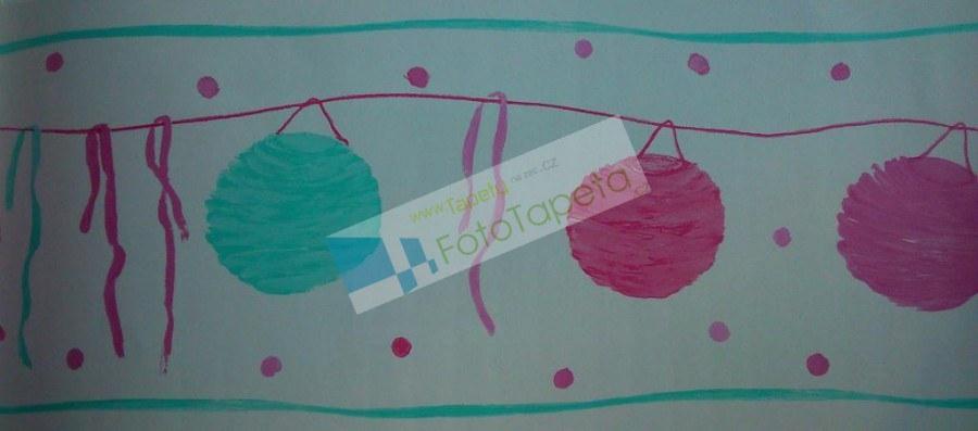 Dětské vliesové bordury 9800233, rozměry 17,6 x 500 cm - Tapety Abracadabra