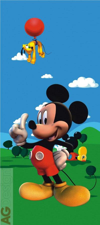 Dětská papírová fototapeta Mickey Mouse FTDV0237, rozměry 90 x 202 cm | Fototapety pro děti Rozměr 90 x 202 cm