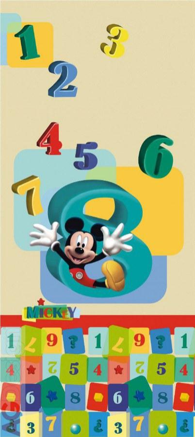 Dětská vliesová fototapeta Mickey Mouse a čísla FTDNV5413, rozměry 90 x 202 cm | Fototapety pro děti Fototapety dětské vliesové