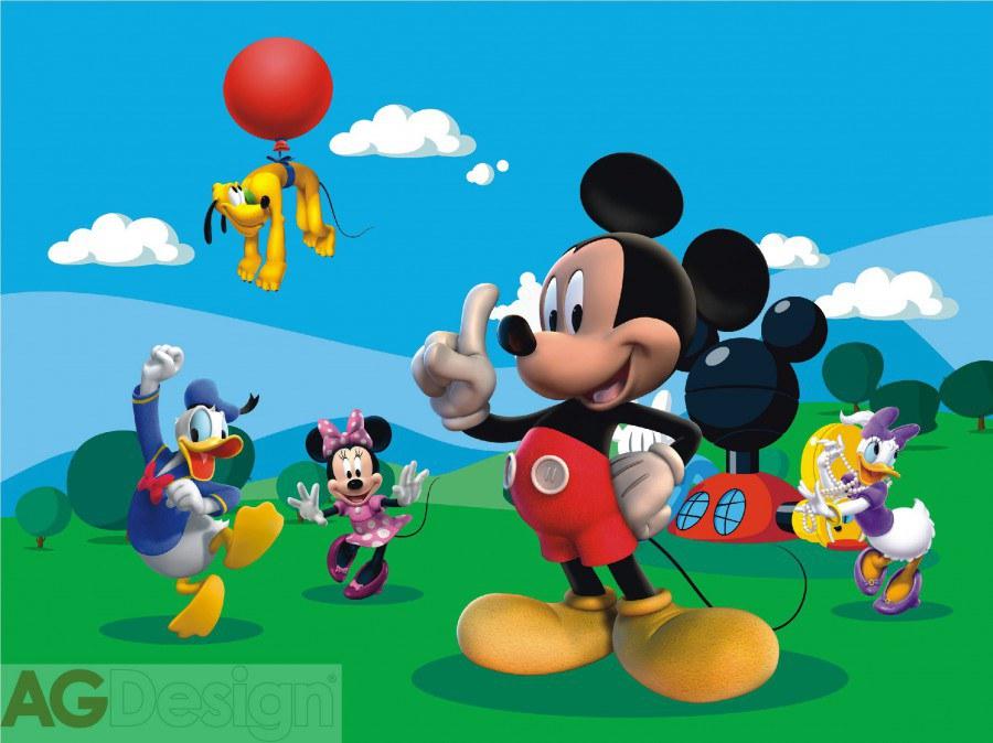 Dětská papírová fototapeta Mickey Mouse FTDXXL0248, rozměry 360 x 255 cm | Fototapety pro děti Rozměr 360 x 255 cm