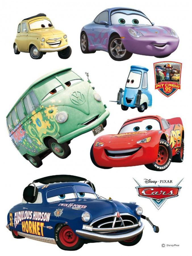 Maxi nálepka Cars a Kamarádi AG Design DK-0851, rozměry 85 x 65 cm