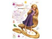 Maxi nálepka Rapunzel AG Design DK-0854, rozměry 85 x 65 cm Dekorace Na Vlásku