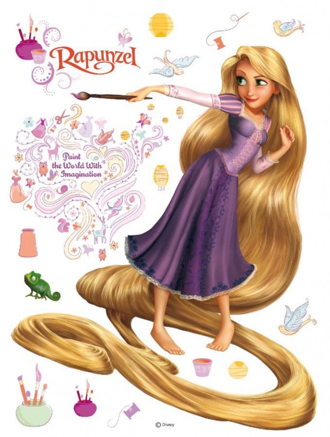 Maxi nálepka Rapunzel AG Design DK-0854, rozměry 85 x 65 cm - Dekorace Na Vlásku