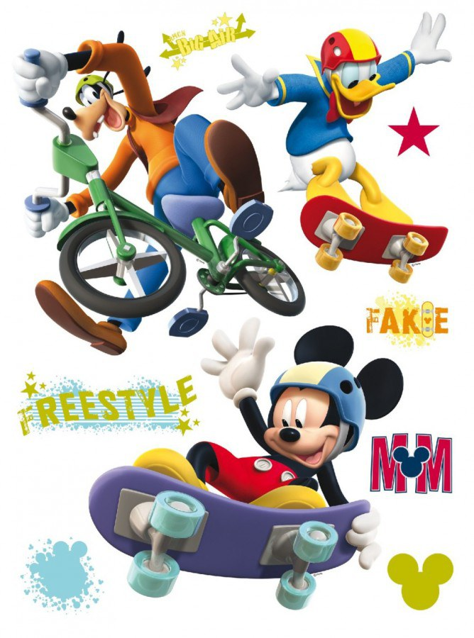 Maxi nálepka Mickey Mouse freestyle AG Design DK-0855, rozměry 85 x 65 cm - Dekorace Mickey Mouse