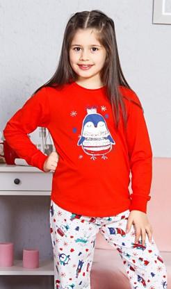 Dětské pyžamo dlouhé Tučňák velký - Dívčí pyžama s dlouhým rukávem