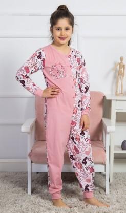 Dětský overal Kočky - Dívčí pyžama s dlouhým rukávem