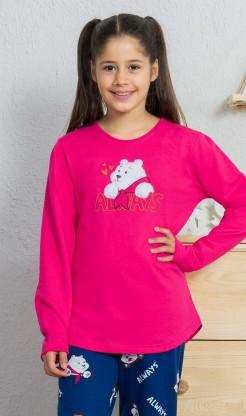 Dětské pyžamo dlouhé Méďa - Dívčí pyžama s dlouhým rukávem