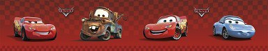 Samolepicí bordura Cars D42363, rozměry 10,6 x 500 cm