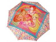 Dětský deštník vystřelovací Winx Deštníky pro děti