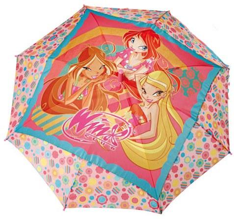 Dětský deštník vystřelovací Winx