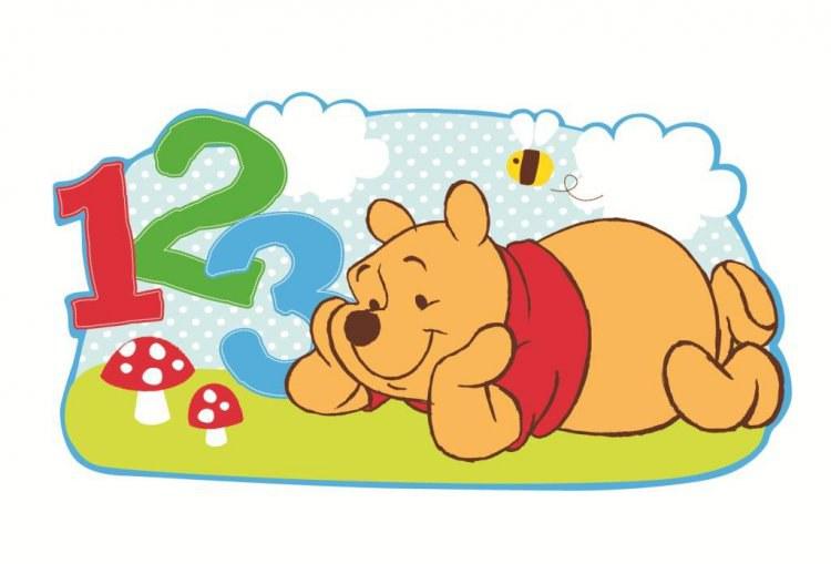 Velká pěnová figurka Medvídek Pú D23523, rozměry 53 x 28 cm | Dekorace do dětských pokojů Dekorace Medvídek Pú