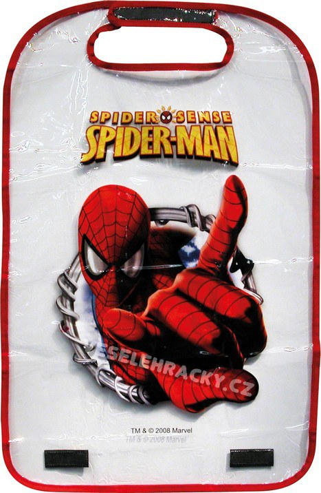 Ochrana předních sedadel Spiderman - Kapsáře do auta