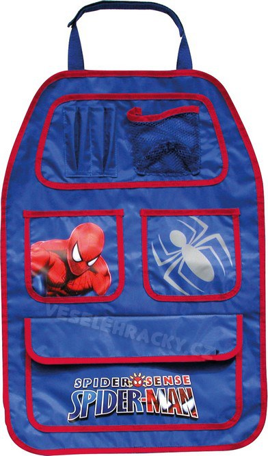 Kapsář do auta Spiderman | Autodoplňky pro děti Kapsáře do auta