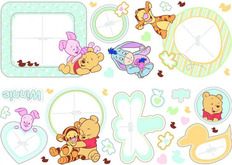 Nálepky Medvídek Pú D40986, rozměry 70 x 50 cm | Dekorace do dětských pokojů Dekorace Medvídek Pú